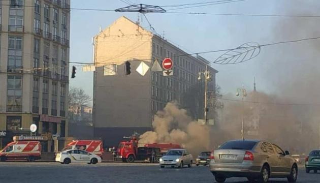 Пожар на Крещатике погасили