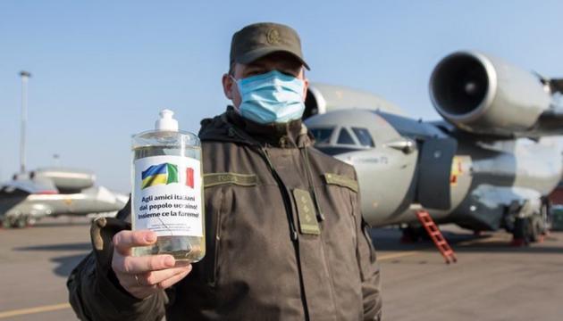 Kampf gegen Coronavirus-Pandemie: Ukraine übergibt fünf Tonnen Desinfektionsmittel an Italien