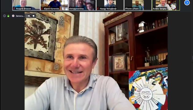 Сергей Бубка провел более двух часов онлайн с ведущими спортсменами и тренерами
