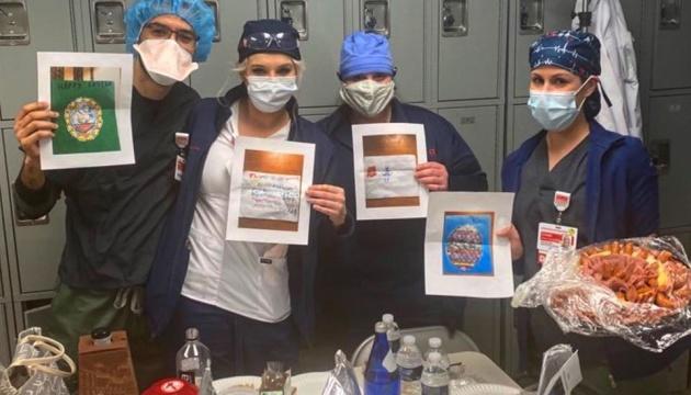 Сумівці у США передали подарунки та маски для літніх людей і лікарів, що борються з COVID-19