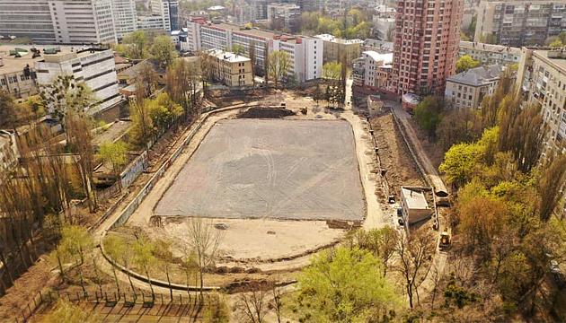 У Києві реконструюють стадіон заводу