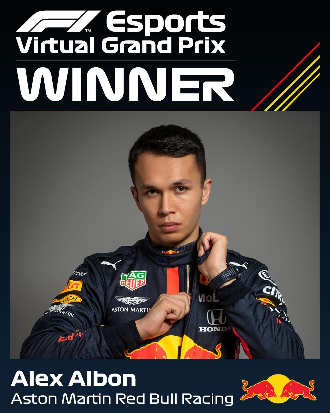 Формула-1: Албон виграв етап віртуальних перегонів