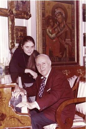 Дмитро Тьомкін і третя дружина Олівія Синтія Петсі