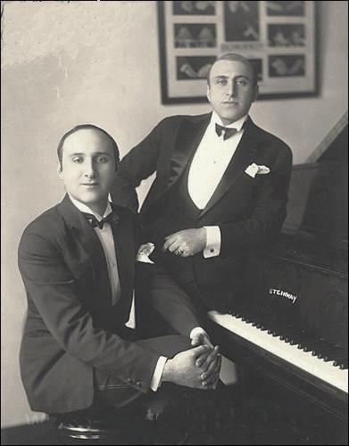 Дмитро Тьомкін та Міхаель Карітон, приблизно 1925 р.