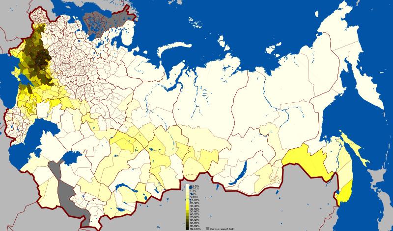Українська мова за повітами за переписом 1897 року.