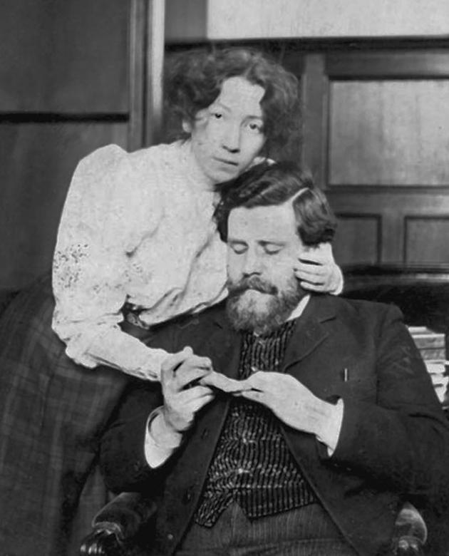 Максиміліан Волошин та перша дружина Маргарита Сабашникова у квартирі на вулиці Сенже, 17, Париж, 1906 р