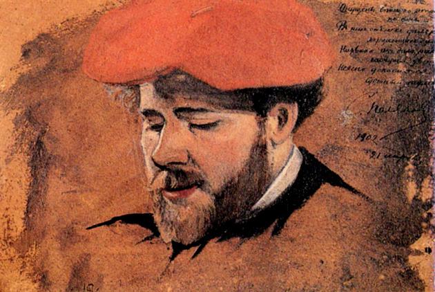 Максиміліан Волошин, портрет роботи українського маляра Олександра Якимченка, Париж, 1902 р..jpg