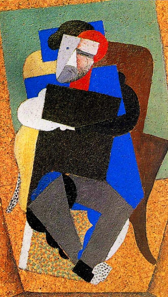 Mаксиміліан Волошин, портрет роботи Дієго Рівера. Париж, 1916 р. 1