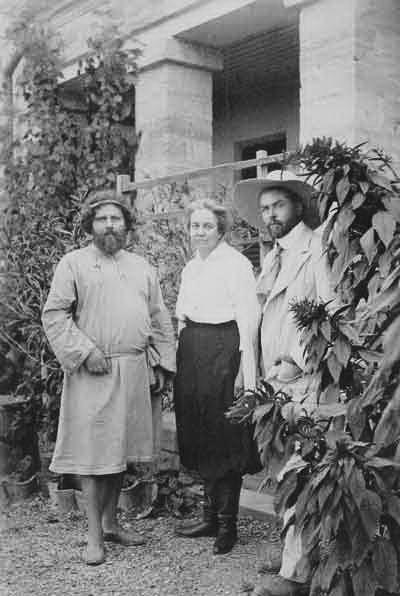 Максиміліан Волошин, Поліксена Соловйова, Григорій Петров. 1910-і рр.