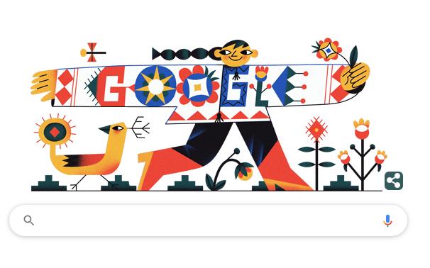 Google привітав із Днем вишиванки яскравим дудлом