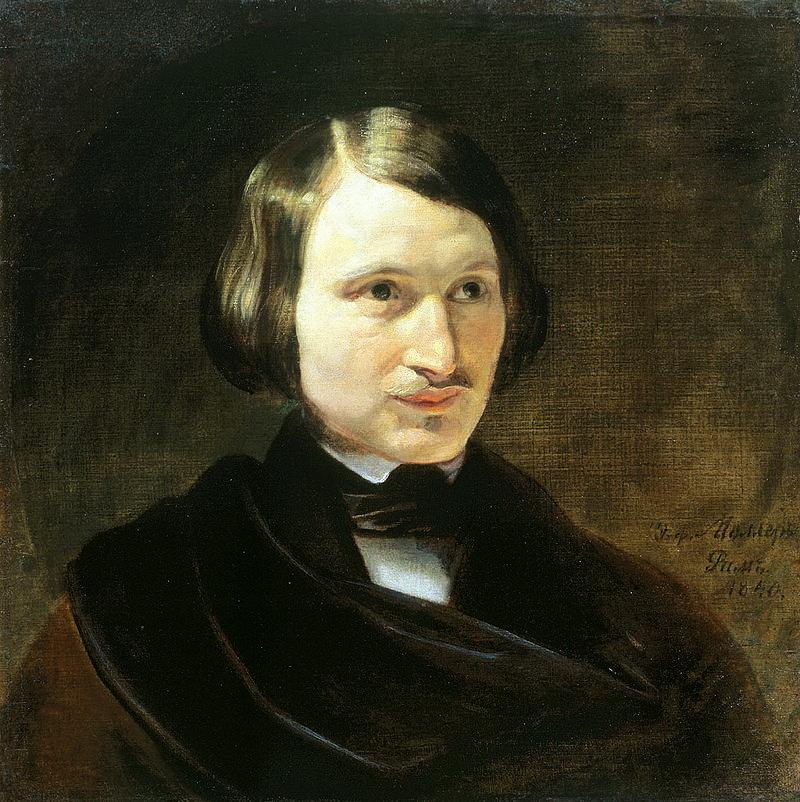 Федор Моллер, портрет Николая Гоголя 1841 г.