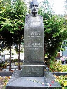 Могила М.М.Бурденка на Новодівичому кладовищі у Москві