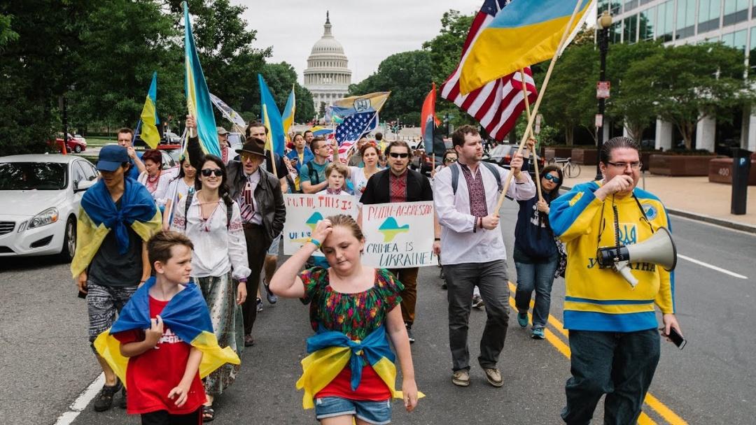 Українці США. Протестний марш проти агресії Росії.