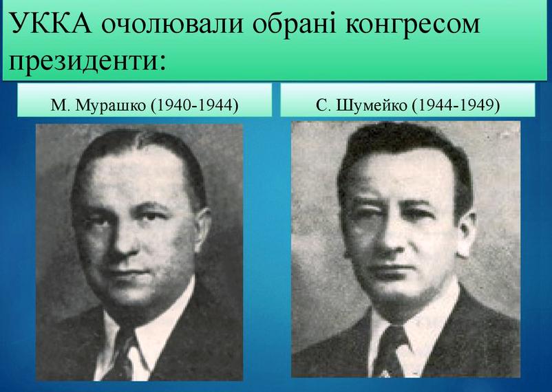 Перші президенти УККА