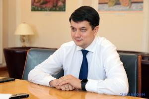Razumkov espera ampliar la cooperación entre los Parlamentos de Ucrania y Suecia