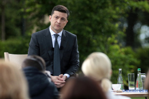 Zelensky arrives in blaze-hit Luhansk region