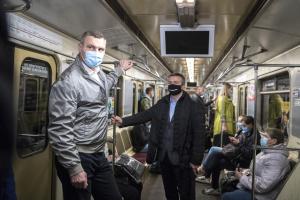 Кличко проїхався у метро та оцінив ситуацію