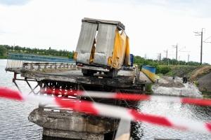 За сутки вместо Алексеевского моста построят переправу