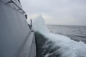 Українські ВМС випробували новий артилерійський катер