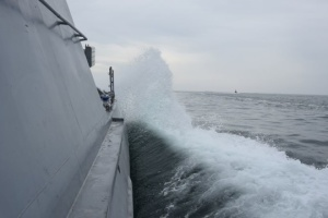 Ukrainian Navy tests new artillery boat