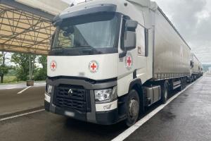 Красный Крест доставил более 18 тонн стройматериалов на оккупированный Донбасс