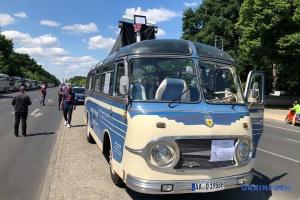 Туристические автобусы выехали на акцию протеста в Берлине
