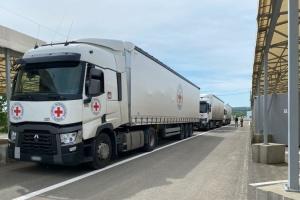 Червоний Хрест відправив на окупований Донбас понад 36 тонн гумдопомоги