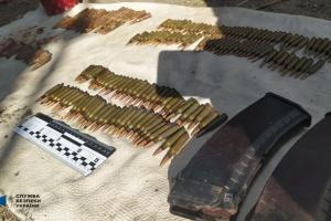 СБУ викрила три схрони зі зброєю на колишніх позиціях терористів на Луганщині