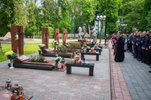 Во Франковске почтили память полицейских, погибших на горе Карачун