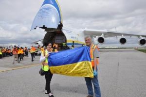 """Українська """"Мрія"""" втретє доставила до Канади медичне спорядження"""