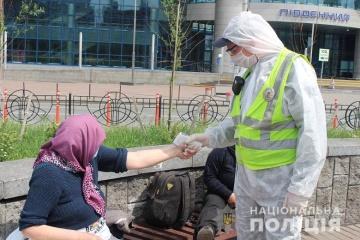 """Поліція провела """"карантинний"""" рейд біля залізничного вокзалу Києва"""