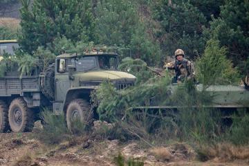 4月18日の露占領軍停戦違反8回、宇軍人1名死亡、1名負傷=統一部隊