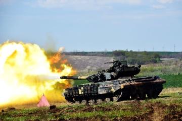Ukraińscy czołgiści w rejonie OSP uczestniczyli w szkoleniach ze strzelania