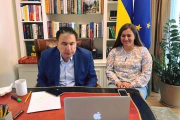 Yermak, Saakashvili discuss prospects for cooperation with G7 ambassadors