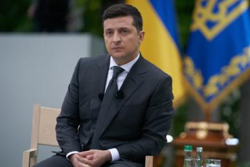 Präsident in der Region Schytomyr angekommen