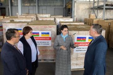 Azerbaijan gives Ukraine 23 tonnes of humanitarian aid to counter COVID-19