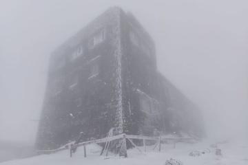 Les quantités de neige dans les Carpates ont dépassé 40 centimètres