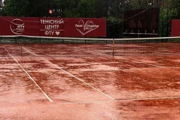 На теннисном турнире в Ирпене из-за дождя отменены субботние матчи