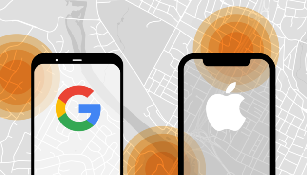Apple і Google заборонять відстежувати геолокацію людей із COVID-19