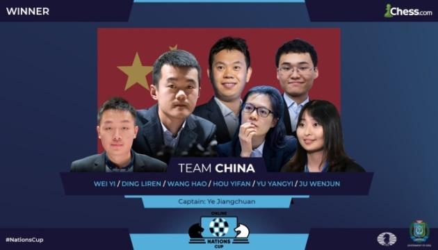 Збірна Китаю стала переможцем Онлайн Кубка націй з шахів