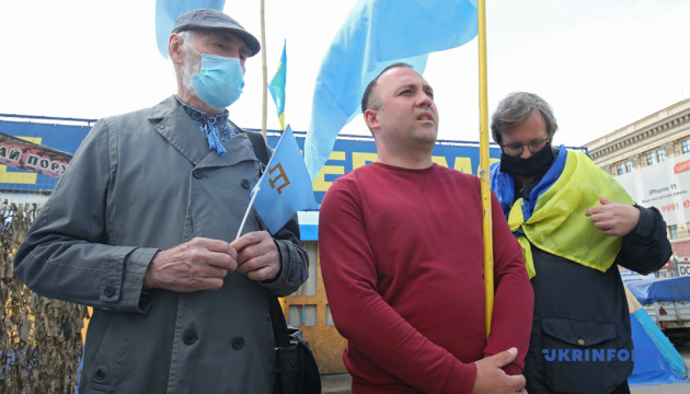 Харків'яни провели акцію на підтримку кримських татар