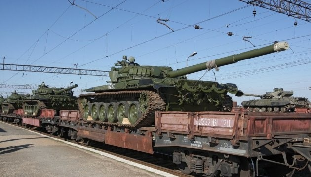 Russia supplies three wagons with ammunition and tanks to Donbas