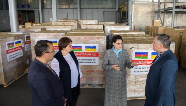 Azerbaijan gives Ukraine 23 tonnes of humanitarian aid to counter COVID-19