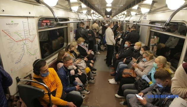 Number of passengers using Kyiv subway dropped by 40%