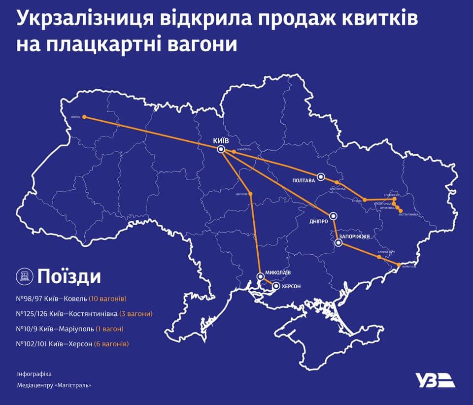 Фото - Укрзалізниця відкрила продаж квитків у плацкартні вагони