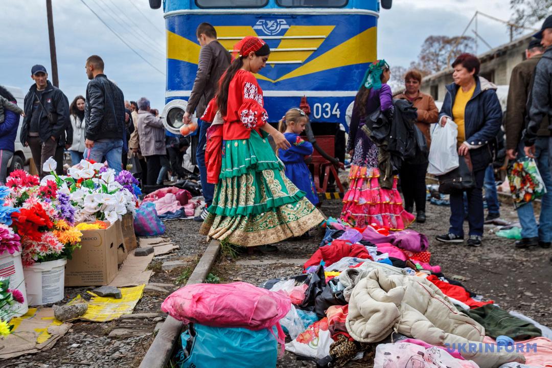 Ринок на коліях Боржавської вузькоколійної залізниці