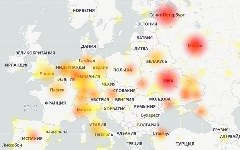Глобальний збій у роботі Telegram істотно зачепив Україну