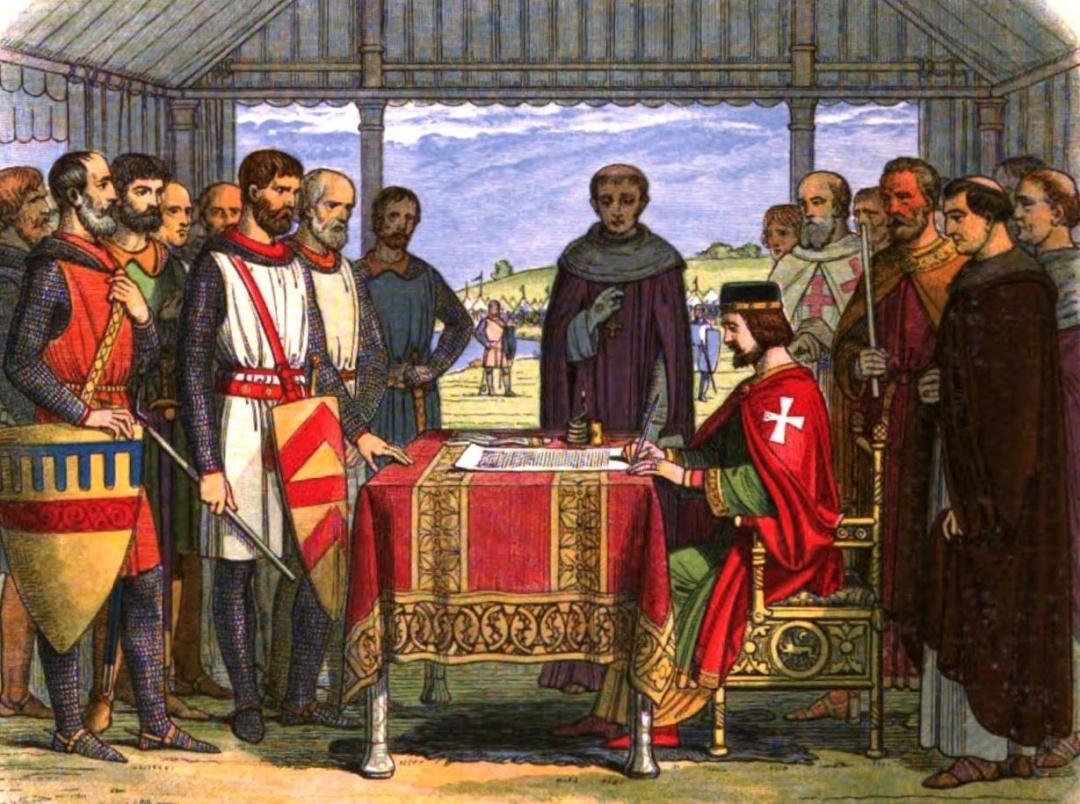Король мусив підписати Carta Magnum - угоду про довічне припинення беззаконня