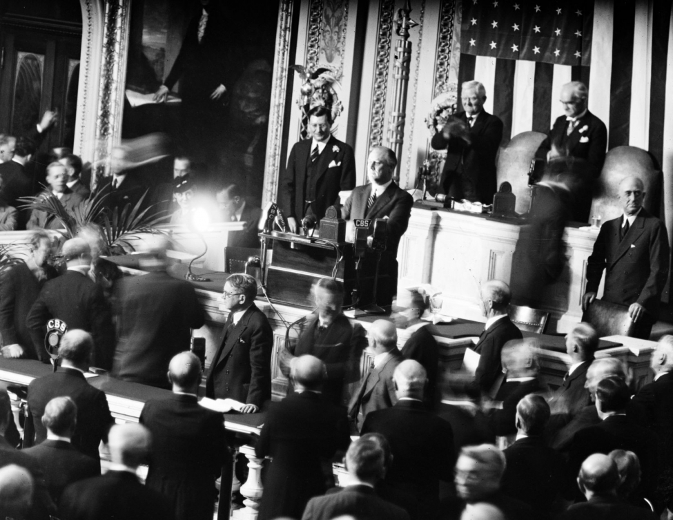 Президент США Рузвельт оголошує