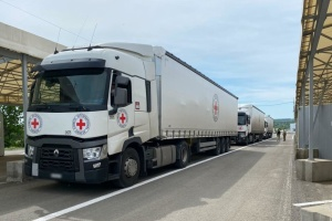 Red Cross delivers 53 tonnes of construction materials to occupied Donbas